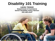 Disability 101 Training 10