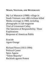 richard nixon vietnam essay