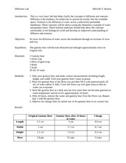 Gummy Bear Lab - Lab Report (With Answers)
