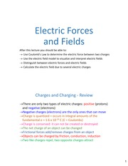 Lecture02 ch21 ElectricField
