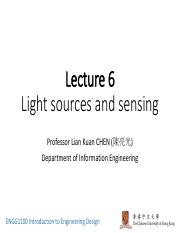 1100_T2_16-17_Lecture06_Light Source and Sensing