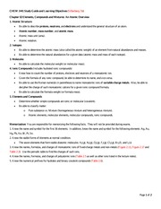 CHEM 1441 Unit 01 Chapter 02 Study Guide and Learning Objectives
