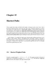 15 Shortest Paths