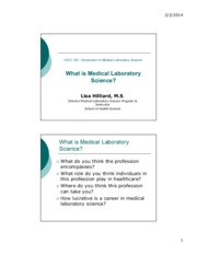 What is Medical Laboratory Science_Lec1