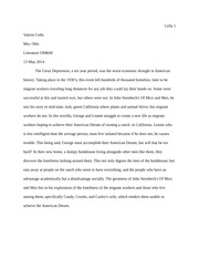 introduction to great depression essays