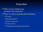 Psychology 231 Prejudice lecture Part 2