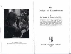 b Fisher design of experiments