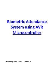Biometric - Biometric Attendance System using AVR Microcontroller