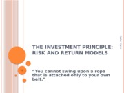 Lecture 2 - The Investment Principle (VT)