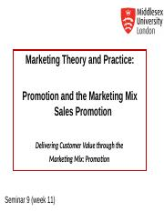 MKT1120 Seminar 9 Sales Promotion.ppt