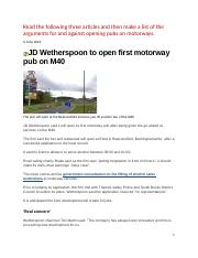 JD Wetherspoon to open first motorway pub on M40_707803146
