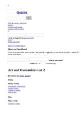 Art and Humanities test 2 flashcards _ Quizlet.html