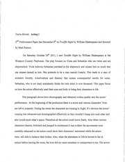 ACTING 2ND PERFORMANCE ESSAY