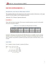 Supplement - Computer and Sensitivity Analysis - 2016