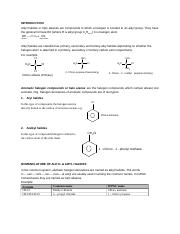 ALKYL HALIDES AND ARYL HALIDES- PART 1