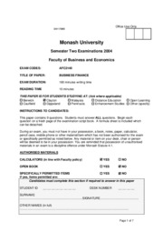 MU - S2 2004 - Business Finance