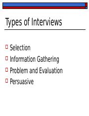 INTERVIEWING