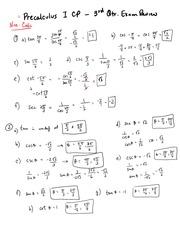 Basic Trig Identities Answers - Practice Worksheet #1 – Basic ...