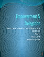 Empowerment & Delegation Team Assignment