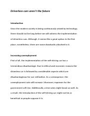 english essay writing selfdriving car.docx