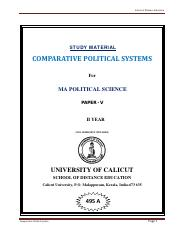 Comparative Political System
