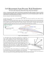 AE331 7Lift Measurment From Pressure Wall Distribution