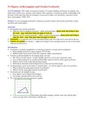 Lecture Notes on Figures on Rectangular and Circular Geoboards