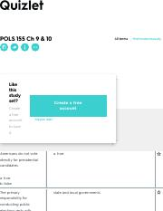 POLS 155 Ch 9 & 10 Flashcards | Quizlet