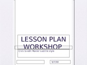 Lesson Plan Workshop Example