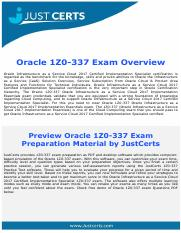 1Z0-337 Oracle Infrastructure as a Service Cloud 2017 Implementation Essentials Exam Dumps
