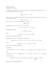 probability Assignment 8 Solutions