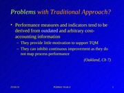 Topic 6 Performance Measurement and Cost of Quality