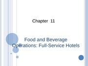 Food and Beverage Operations Full-Service Hotels