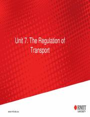 U7 Regul of Transport for Week11.pdf
