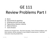 07S Review questions
