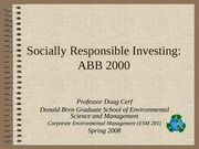 ABB case Socially Responsible Investing
