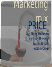 MARKETING MIX-PRICE