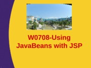 W0708-JavaBeanswithJSP