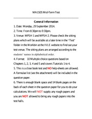 Mid Term Test_Information for the students