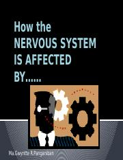 How the NERVOUS SYSTEM IS AFFECTED  BY