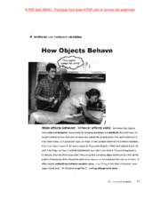 chap 4 How Objects behave