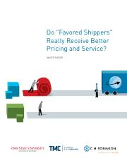 Do Favored Shippers Really Receive Better Pricing and Service