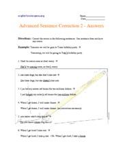 Advanced Sentence Correction 1 - Answers ...