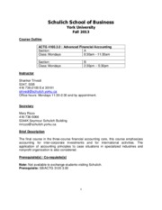 ACTG 4160 A, B - Course Outline - Fall 2013 - S. Trivedi