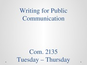 Writing for Public Communications -81914