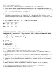 practice questions for Test  2