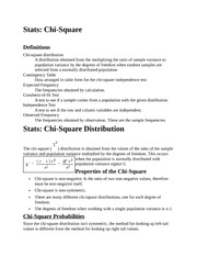 Stats - Chi-Square