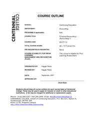 ACCT112 - Course Outline Fall 2010