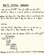 Homework E Solutions on Abstract Algebra