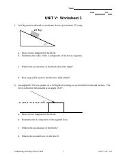 U3 ws 3 - Name Date Pd UNITIII:Worksheet3 1 A 20 kg mass is ...